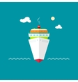 Cruise ship at sea or in the ocean on a sunny day vector image