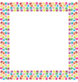 Frame of colorful hands vector image