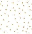 Gold shimmer glitter polka dot seamless pattern vector image