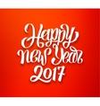 Happy New Year 2017 red-white greeting card vector image