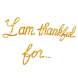 I am thankful for lettering tinsels vector image