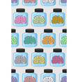 Laboratory examination brains seamless pattern in vector image