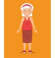old woman character avatar icon vector image