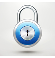 pad lock vector image