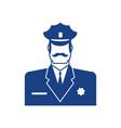 police icon policeman officer sign cop symbol vector image