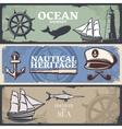 Nautical Banner Set vector image vector image