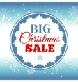 Christmas sale background with snowflakes vector image