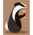 Badger Wine Taster vector image