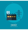 energy factory tower electricity symbol blue vector image