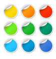 Round stickers set vector image vector image