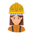 colorful portrait half body of female firefighter vector image