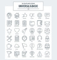 outline icons of basic vector image