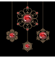 Jewelry pendants vector image
