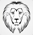 Lion Head Tattoo Design vector image