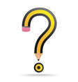 Pencil Question Mark vector image