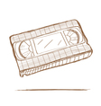 Hand drawn video tape vector image
