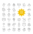 Set of Travel Items Icons vector image vector image