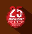 25 Years Anniversary Celebration Design vector image