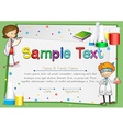 Certificate with scientists background vector image