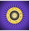 Zodiac circle with horoscope signs vector image