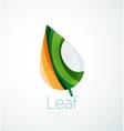 Abstract leaf company logo nature logotype idea vector image vector image