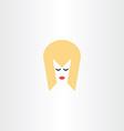 blonde girl face hair icon symbol vector image
