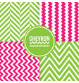 chevron seamless pattern background set pink and vector image