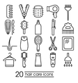 hair care icons vector image