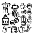 hand draw coffee vector image
