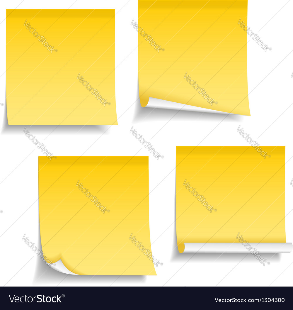 Blank sticky notes vector