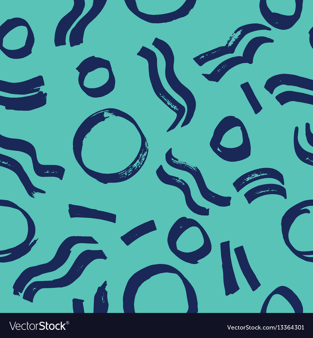 Creative seamless pattern with circular and vector
