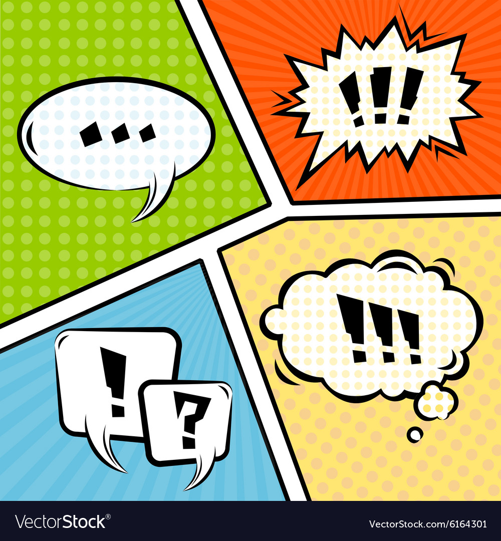 Mockup typical comic book vector