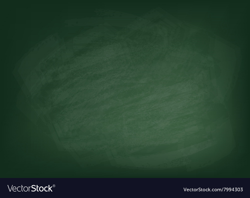 Texture of the green chalkboard background vector
