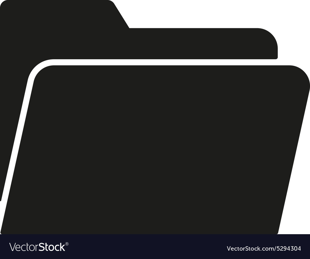 Folder icon file symbol flat vector