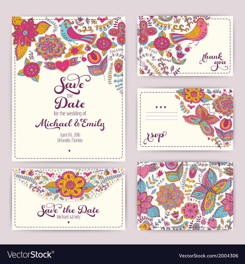 Printable wedding invitation template invitation vector