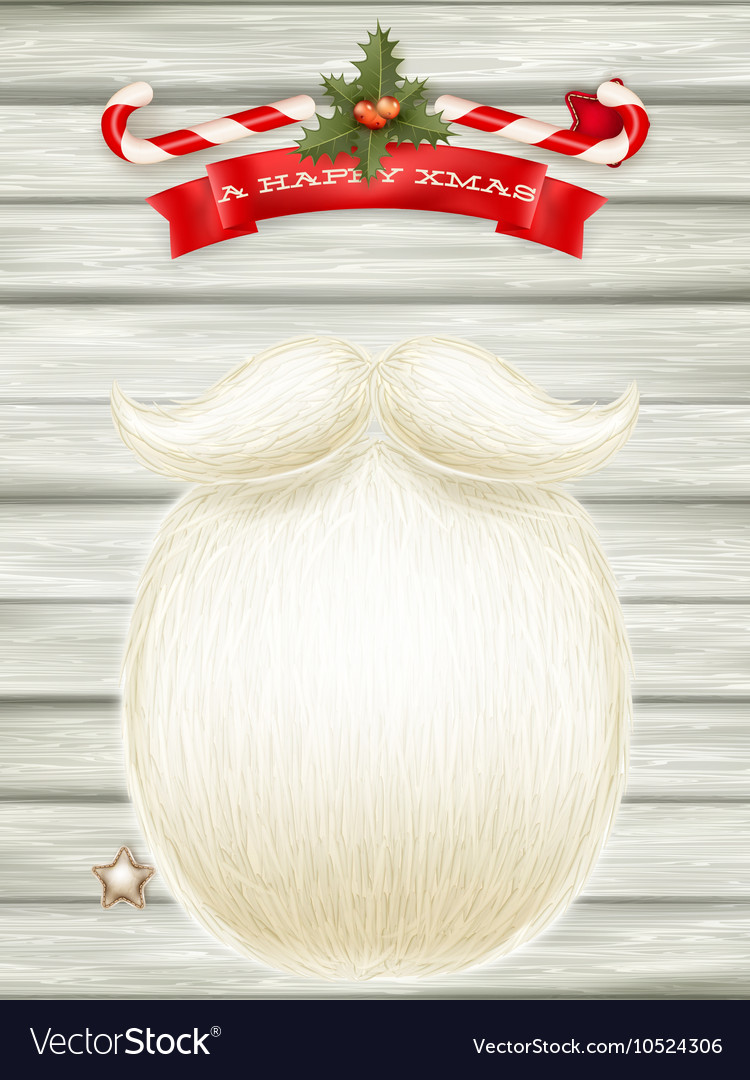 Santa s beard eps 10 vector