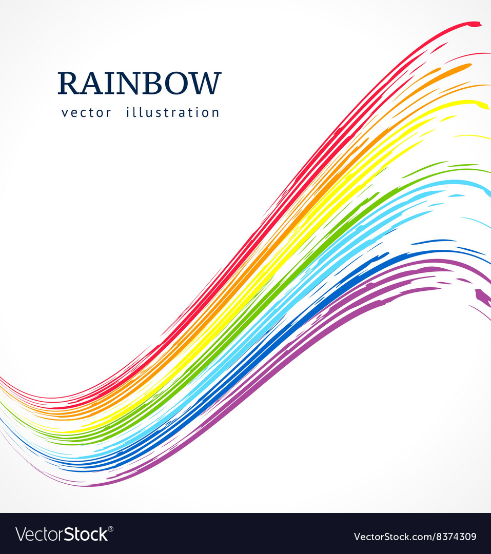 Abstract background with ink rainbow vector
