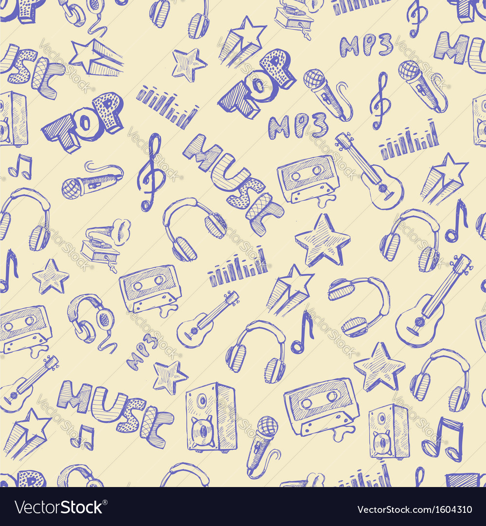 Hand drawn music vector