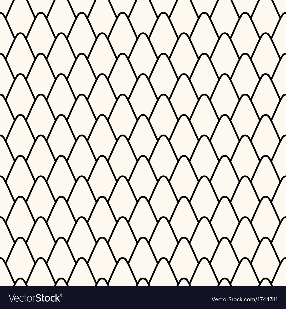 Seamless pattern with stylized scales vector