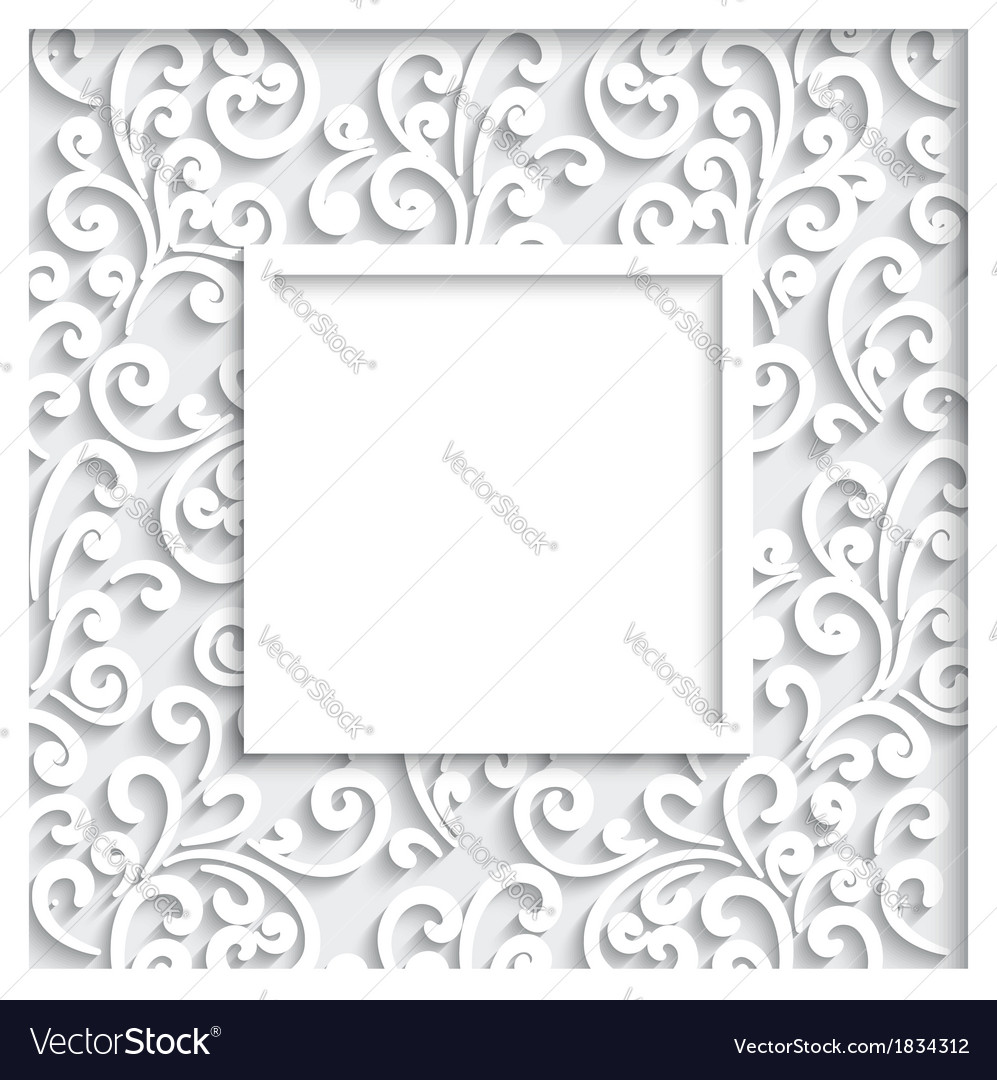 Decorative paper frame vector