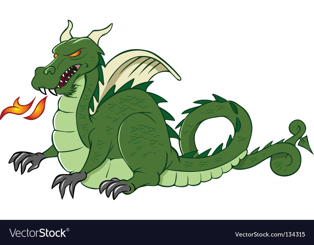 Dragon medieval vector