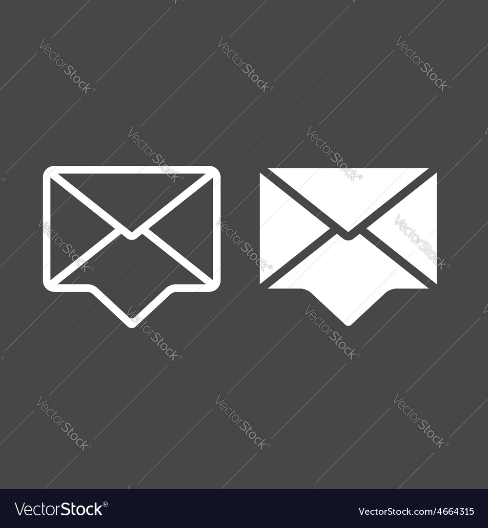 Envelopes icons vector