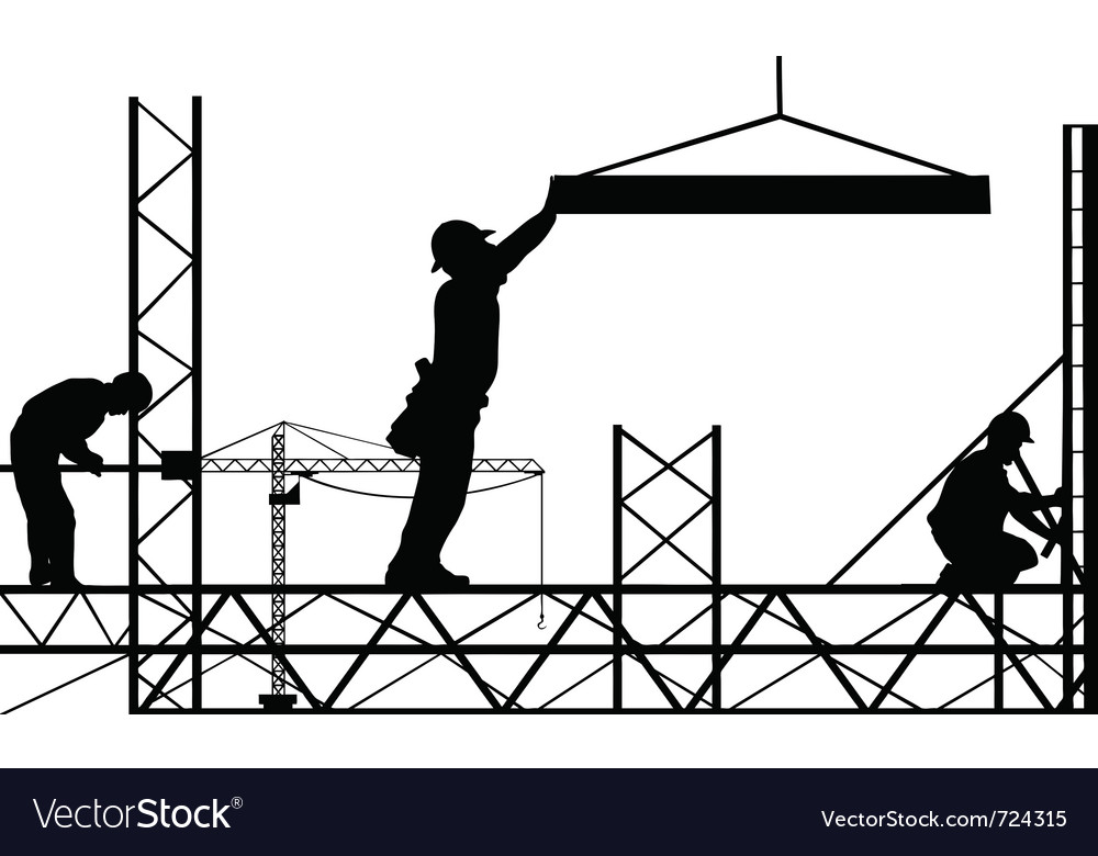 Men working vector