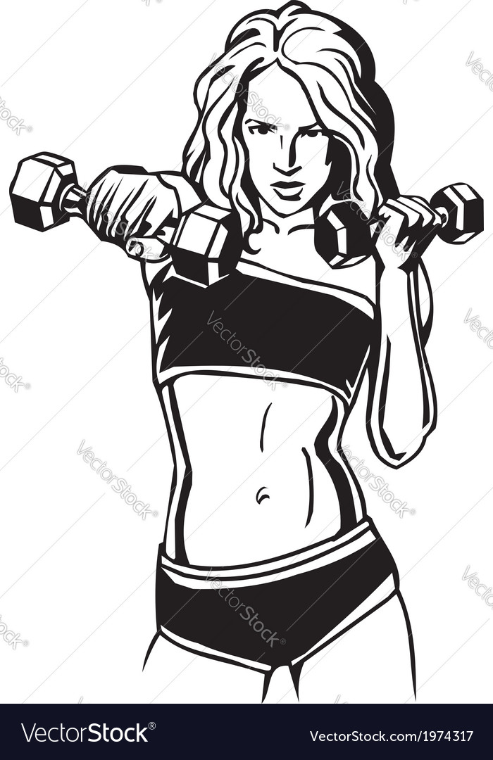 Womens fitness  vector
