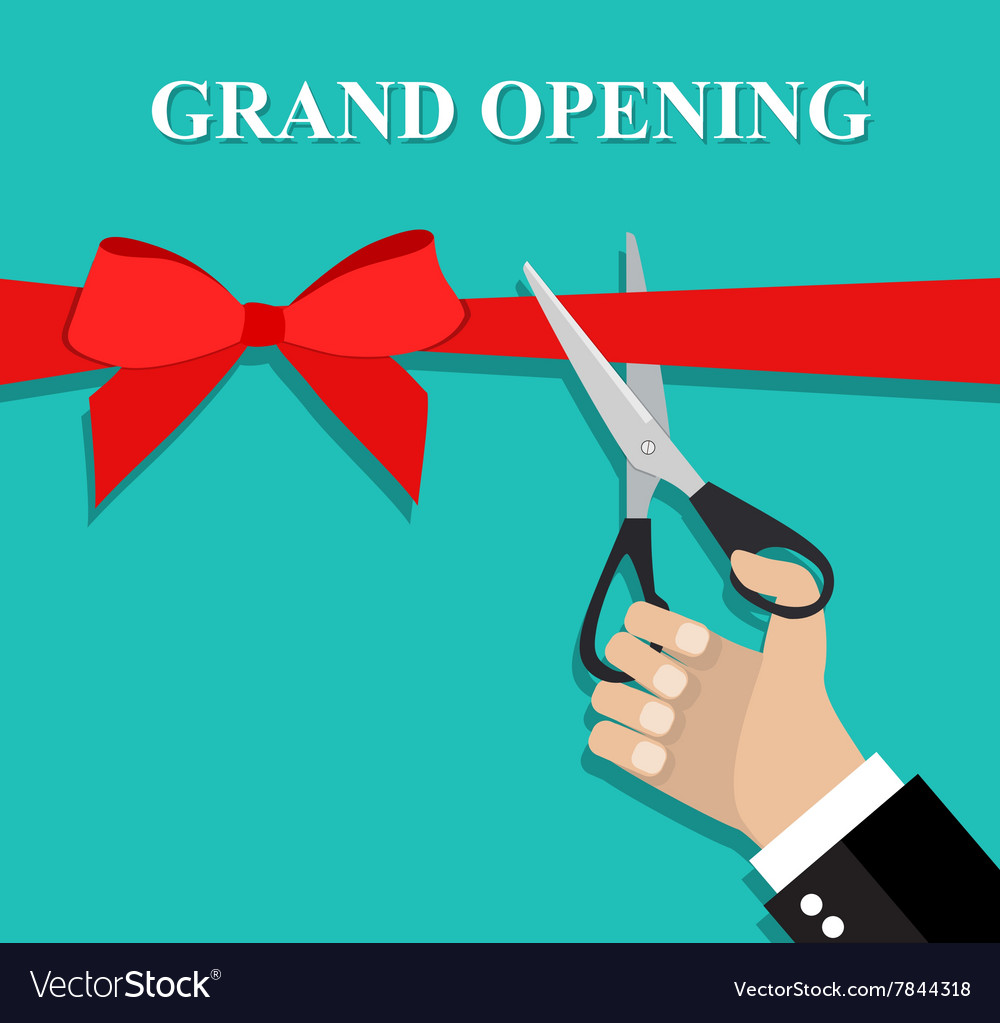 Grand opening ceremony and celebration vector