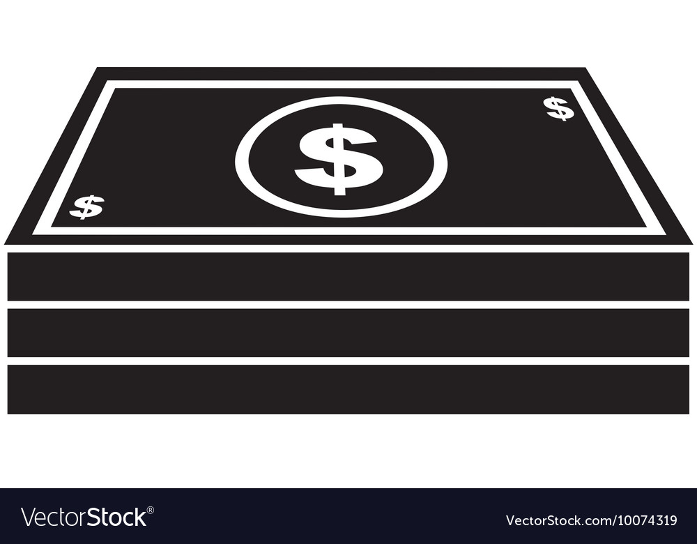Money cash bills dollars icon vector