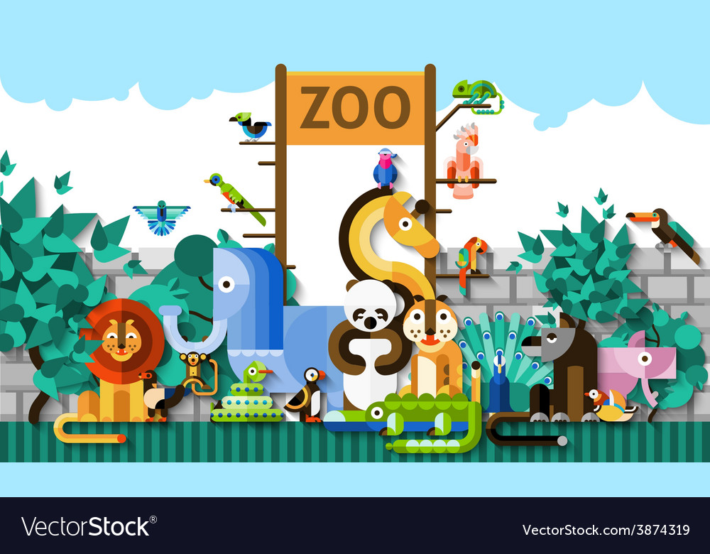Zoo background vector