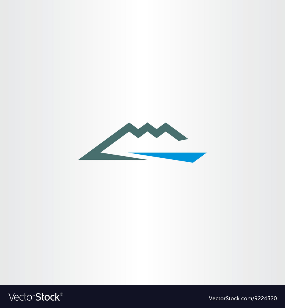 River and mountain icon symbol element vector