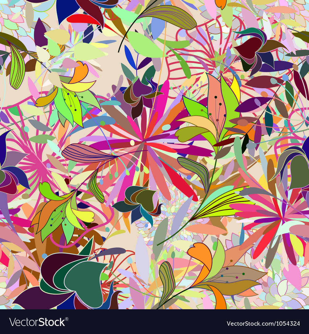 Floral seamless color vector