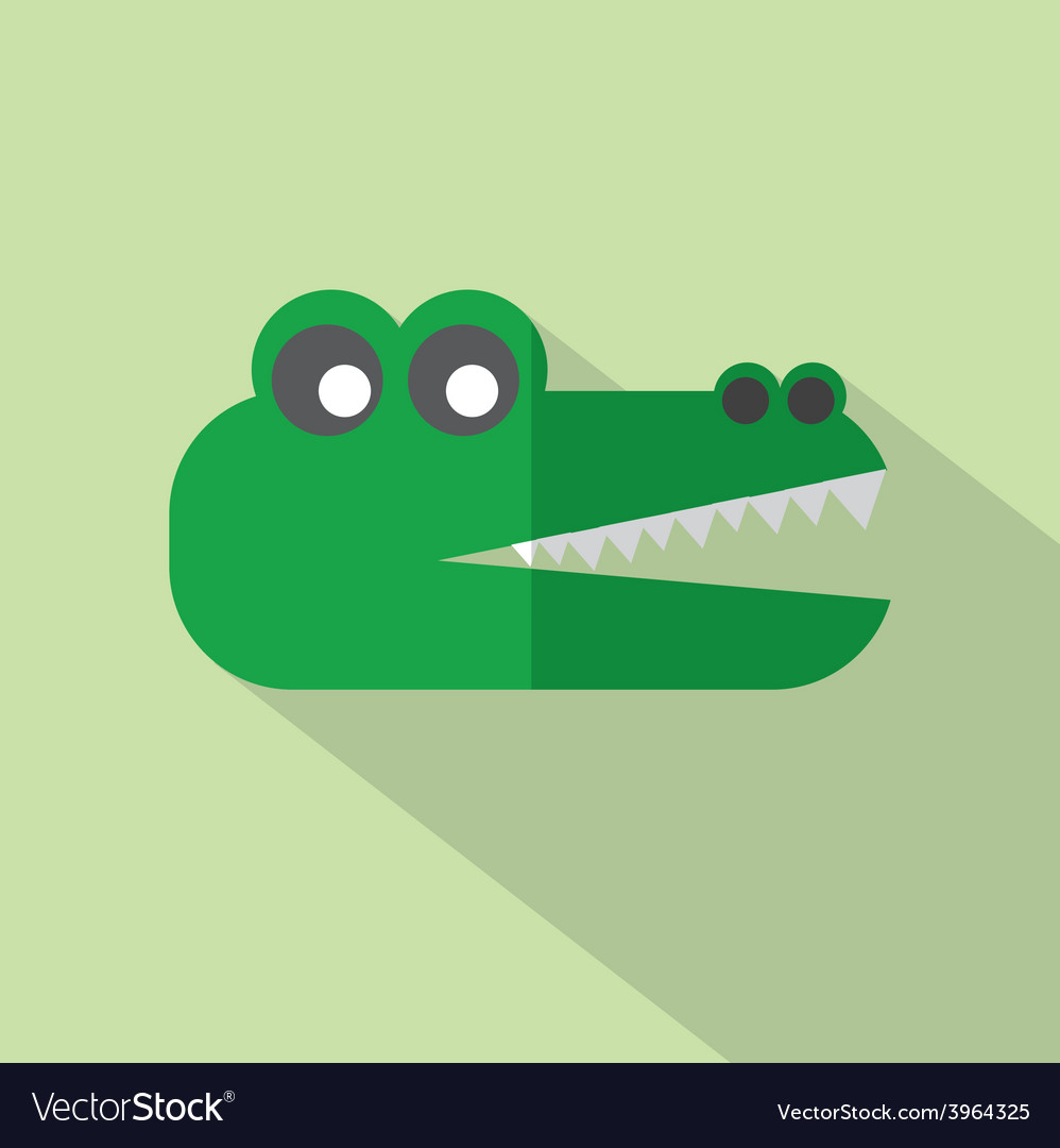 Modern flat design crocodile icon vector